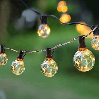 Elegear LED-Lichterkette »GlobaLink L82 Lichterkette«, GlobaLink Lichterkette Außen IP65 Lichterkette Glühbirnen anschließbar G40 17,7M mit 50 Birnen Außen-/Innenbeleuchtung mit stecker Deko für Zimmer, Bar, Garten, Balkon(3 Ersatzbirnen)-Warmweiß