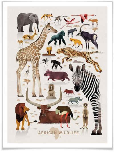 Wall-Art Poster »Africa«, Afrika (1 Stück), Poster, Wandbild, Bild, Wandposter