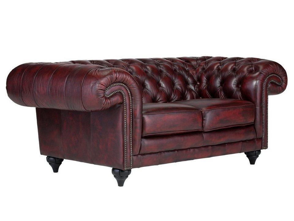 massivum Sofa aus Echtleder »Clifton « in rot