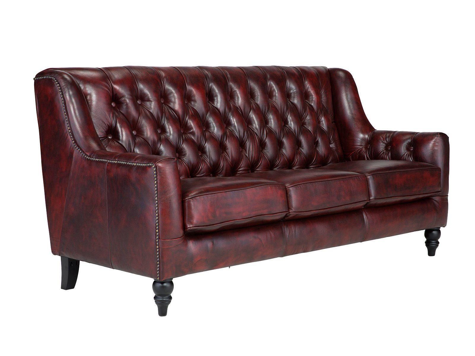 massivum Sofa aus Echtleder »Chesterfield Bozen «