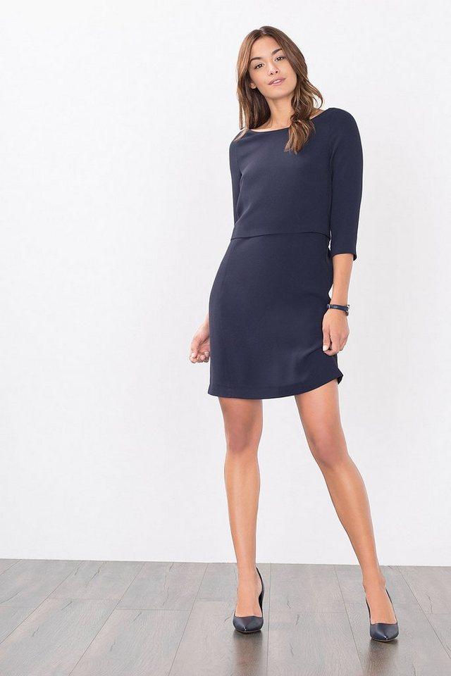 ESPRIT COLLECTION 2in1 Crepe Kleid in NAVY