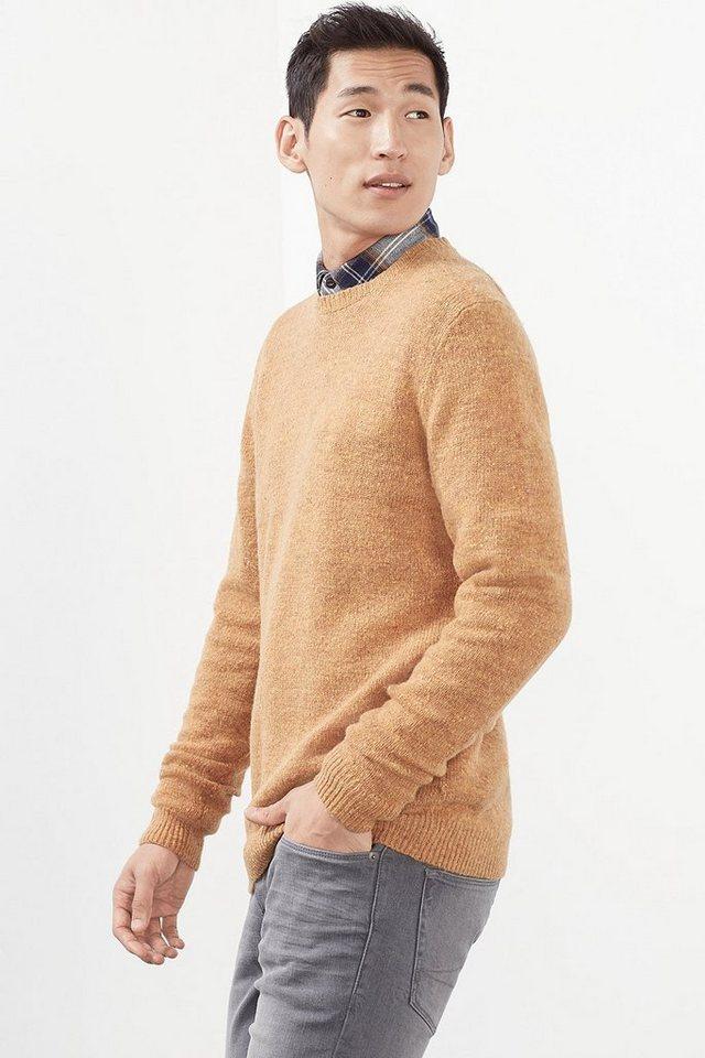 ESPRIT CASUAL Tweed Pulli aus weichem Woll-Mix in BRASS YELLOW