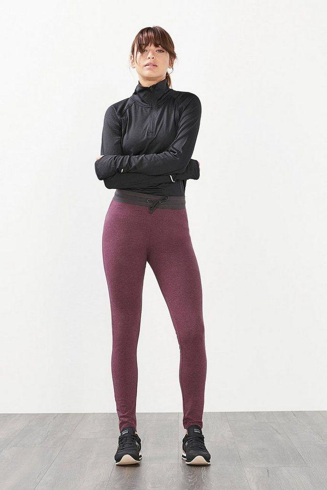 ESPRIT Jersey Sport Pants aus Baumwoll-Mix in BERRY PURPLE