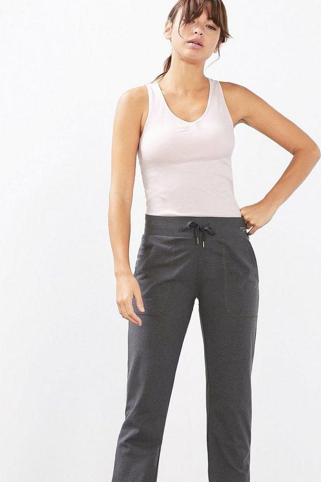 ESPRIT Jersey Sport Hose aus Baumwoll-Stretch in ANTHRACITE