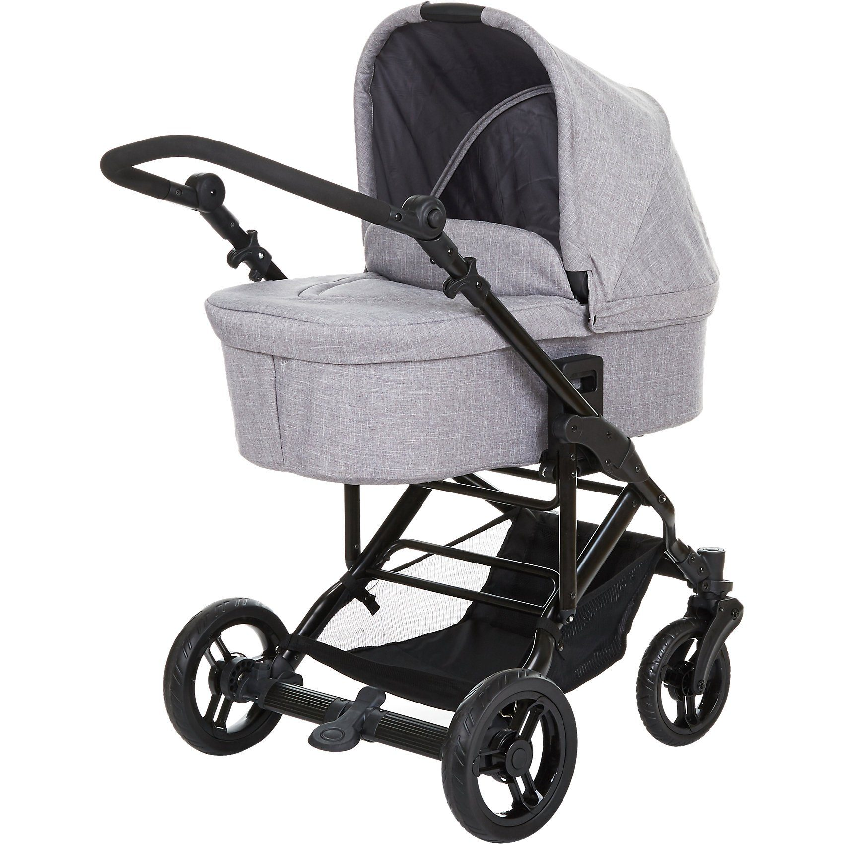 ABC Design Circle Kombi Kinderwagen Como 4 inkl Tragewanne, woven grey