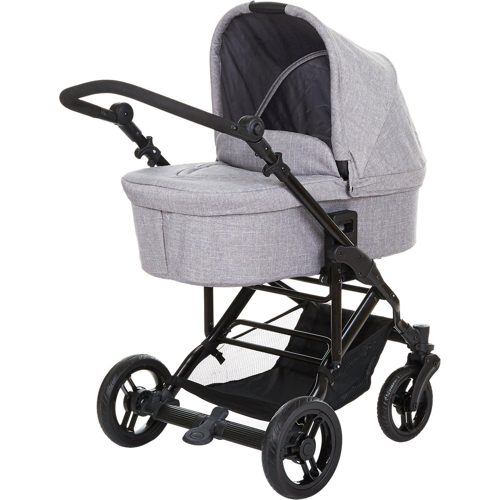 ABC Design Circle Kombi Kinderwagen Como 4 inkl Tragewanne, woven grey