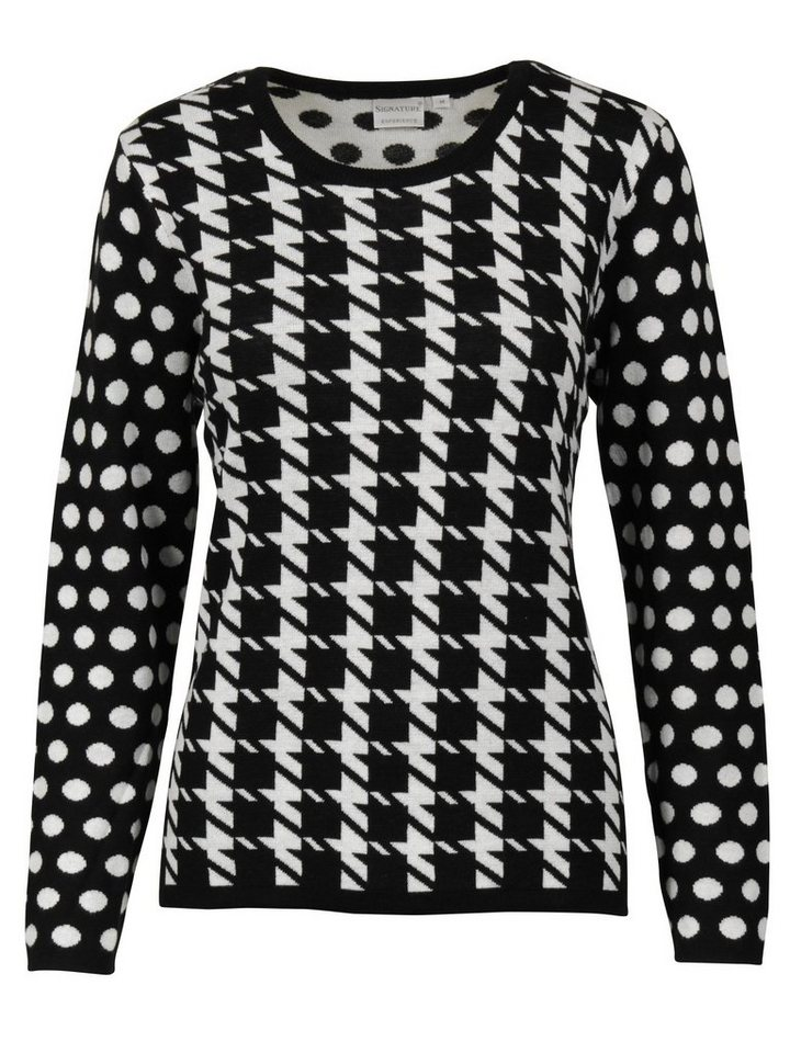 Signature Pullover in schwarz