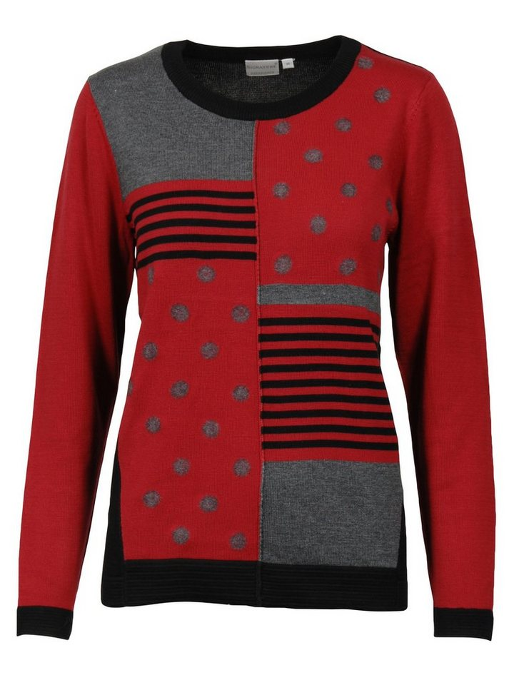 Signature Pullover in rot