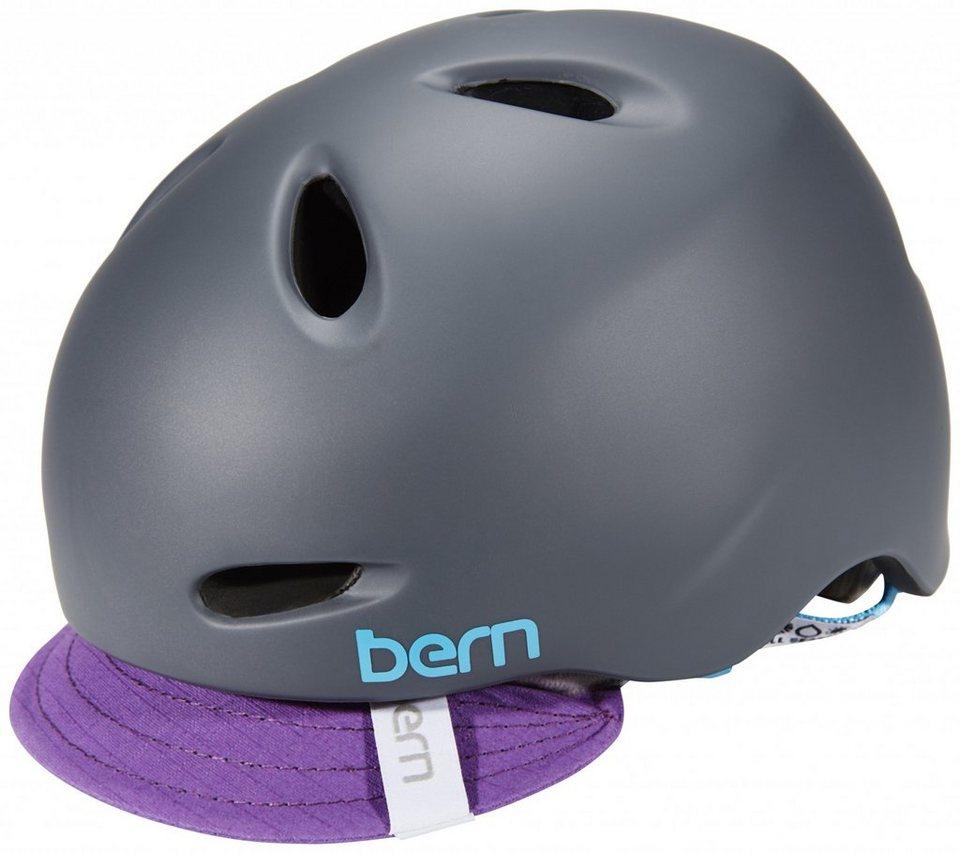Bern Fahrradhelm »Berkeley Helm inkl. Flip-Visier« in grau