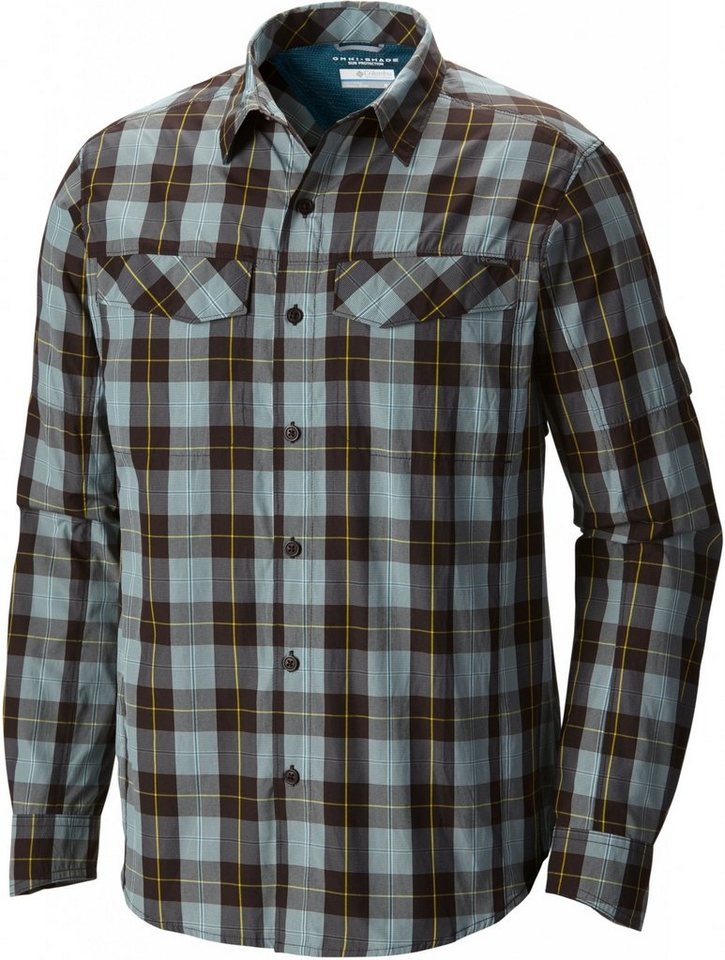 Columbia Hemd »Silver Ridge Plaid Long Sleeve Shirt Men« in grau