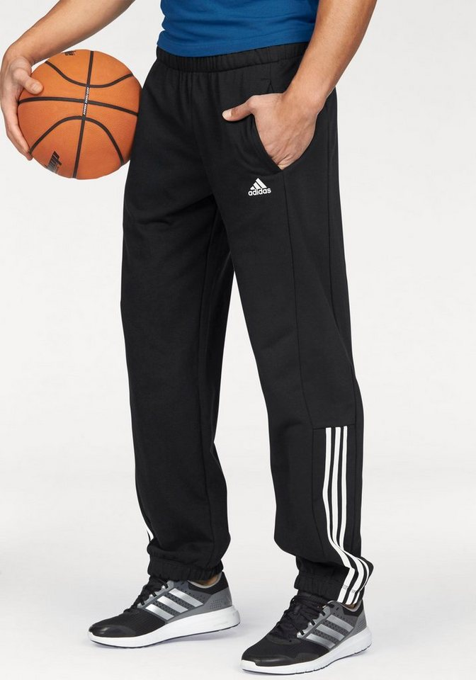 adidas Performance Jogginghose »ESSENTIALS 3S MID PANT FRENCH TERRY« in schwarz