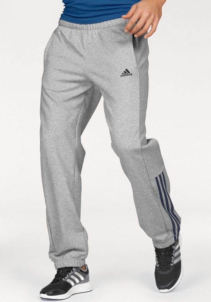 adidas Performance Jogginghose »ESSENTIALS 3S MID PANT FRENCH TERRY« in grau-meliert