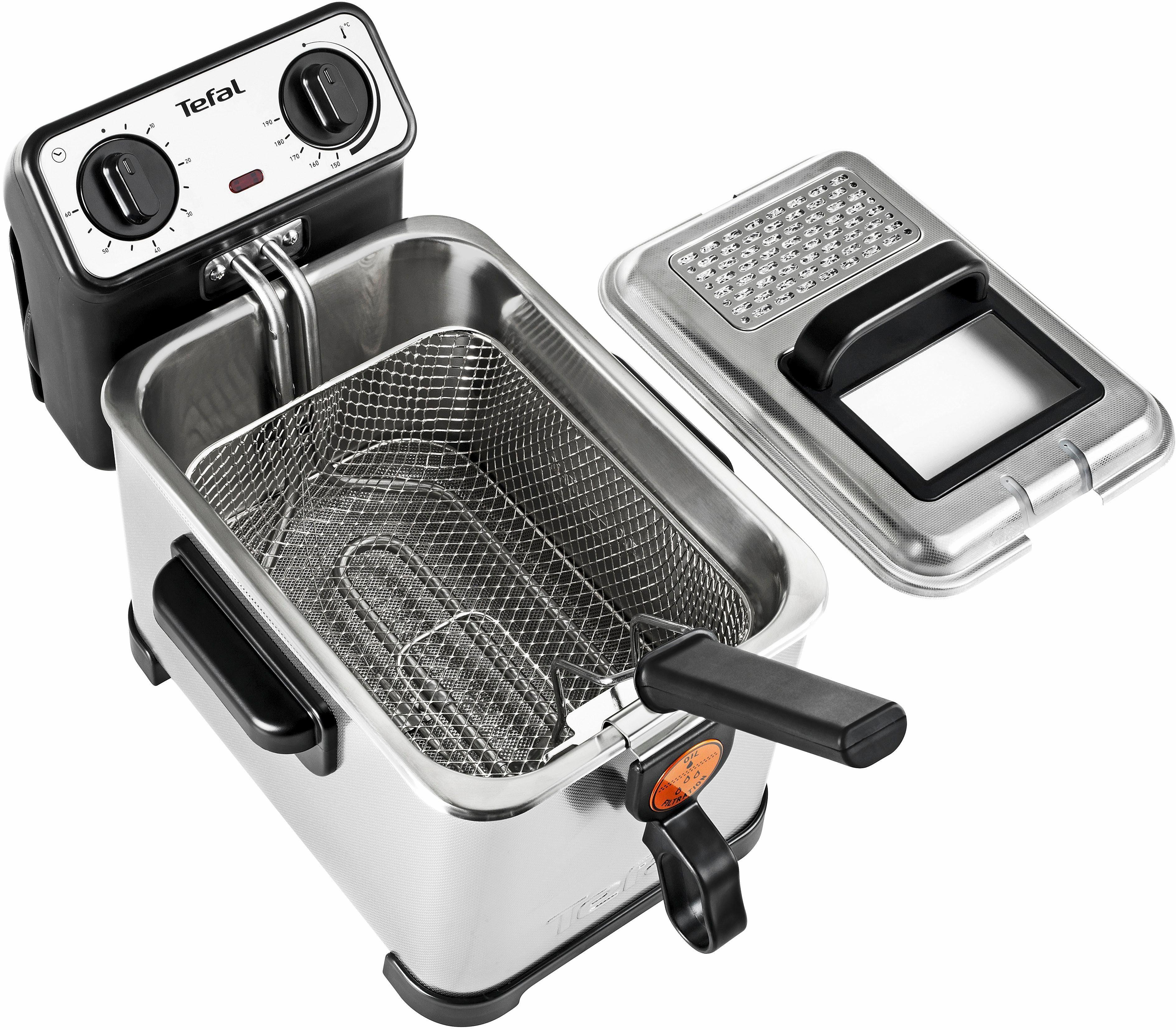 Tefal Fritteuse »Filtra Pro Inox & Design FR4046«, 3 Liter, 2300 Watt