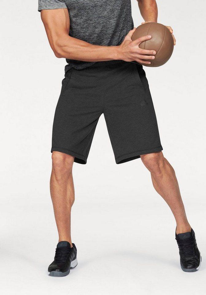 adidas Performance Shorts »ESSENTIALS THE SHORT« in schwarz-meliert-schwarz
