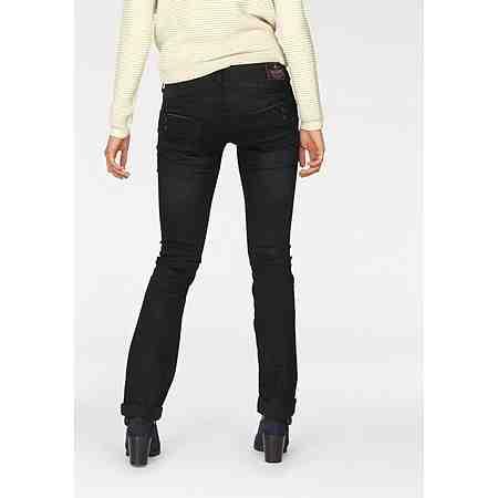 Herrlicher Straight-Jeans »Piper Straight«, mit Dekoknöpfen