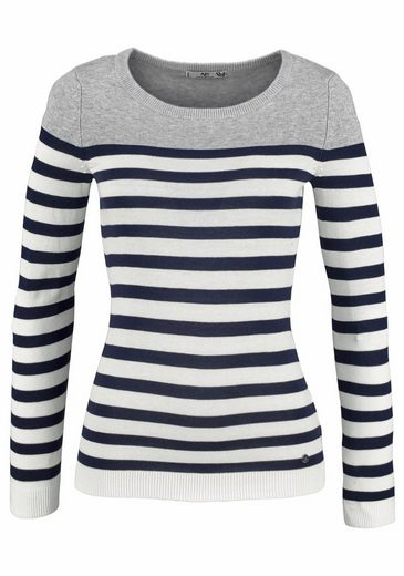 Ajc Stripe Sweater, With A Maritime Look