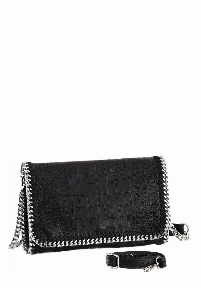 Melrose Clutch in schwarz