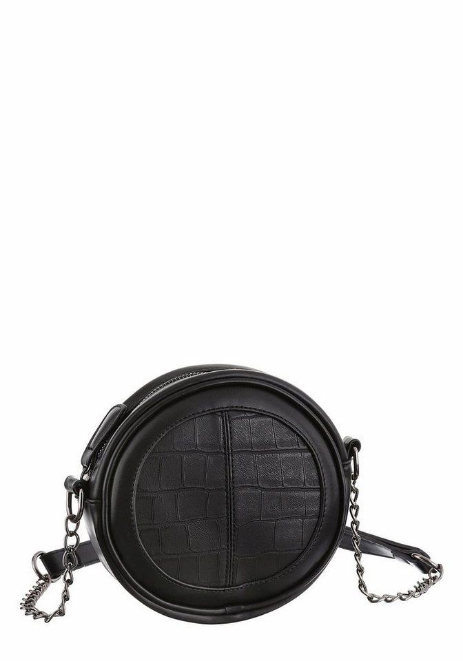 Melrose Umhängetasche mit Zierkette in schwarz