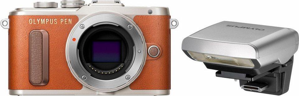 Olympus E-PL8 Body System Kamera, 16,1 Megapixel, 7,6 cm (3 Zoll) Display in braun