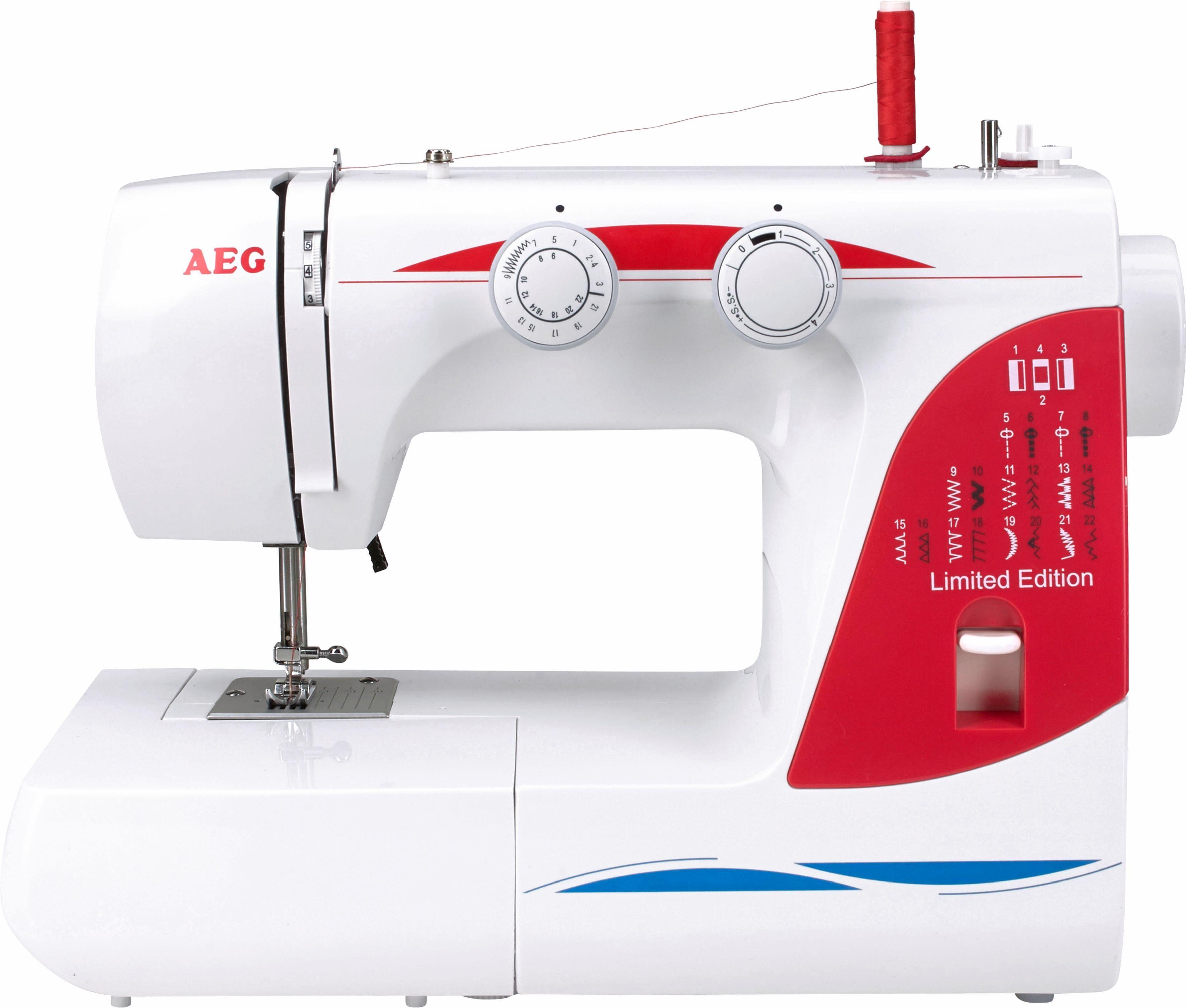 AEG Nähmaschine AEG124, 26 Programme, 26 Programme, mit Zubehör
