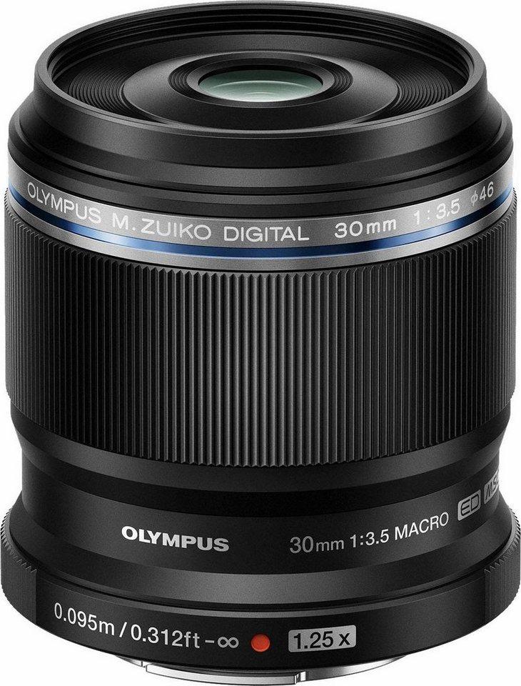 Olympus M.Zuiko Digital ED 30mm 1:3.58 schwarz (makro) Makro Objektiv in schwarz