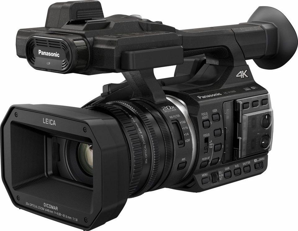 Lumix Panasonic HC-X1000E 4K (Ultra-HD) Camcorder, Videoleuchte, WLAN, NFC in schwarz