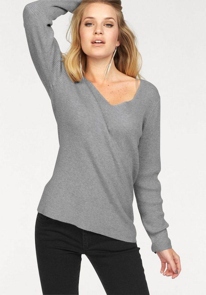 Vero Moda V-Ausschnitt-Pullover »GLORY BABETTE« in grau-meliert