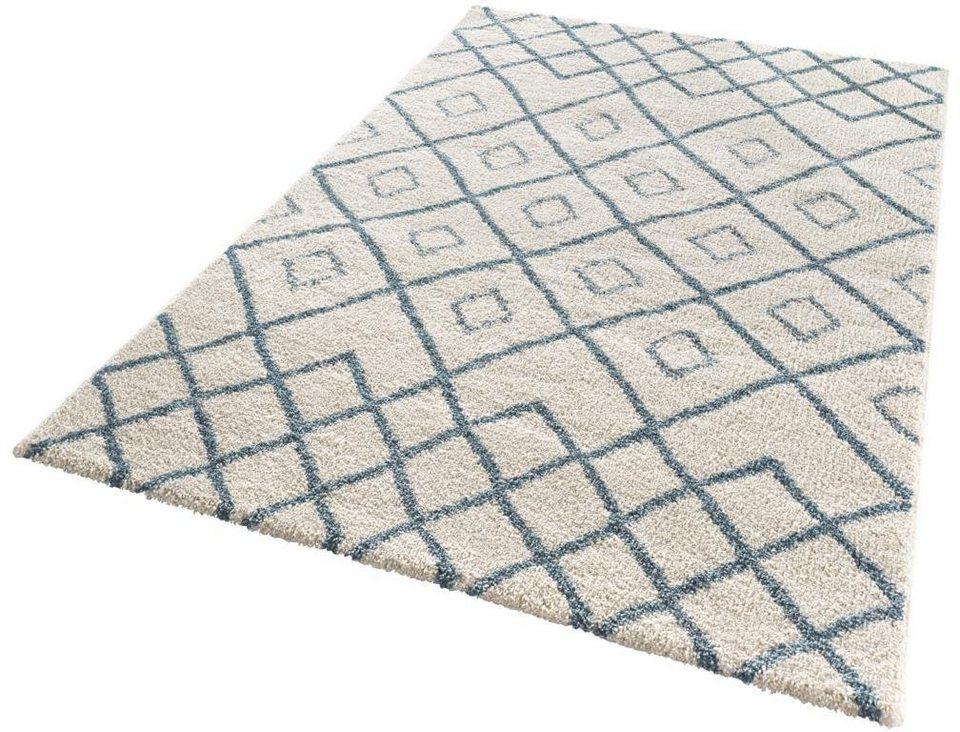 Teppich, Mint Rugs, »Maison«, gewebt in blau creme