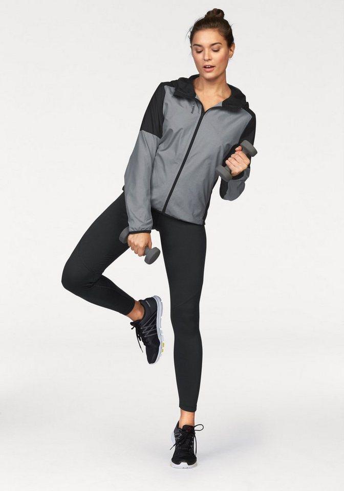 Reebok Sportanzug in grau-schwarz