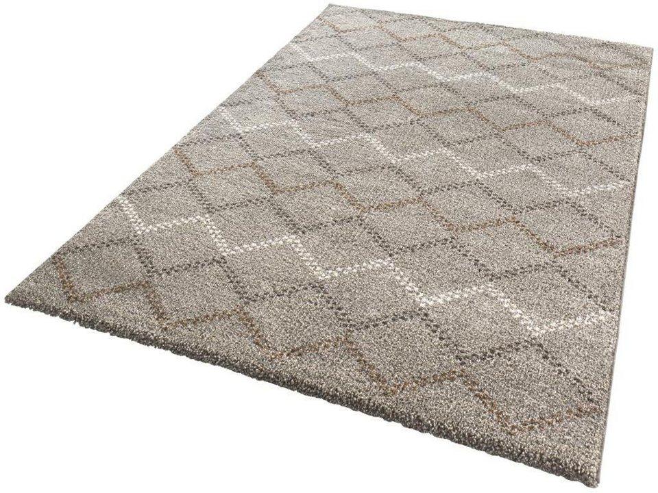 Teppich, Mint Rugs, »Nouveau«, gewebt in taupe braun