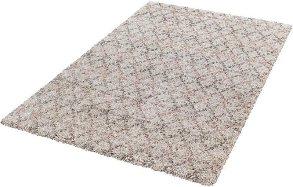 Hochflor-Teppich, Mint Rugs, »Cameo«, Höhe 35 mm, gewebt in creme rosa