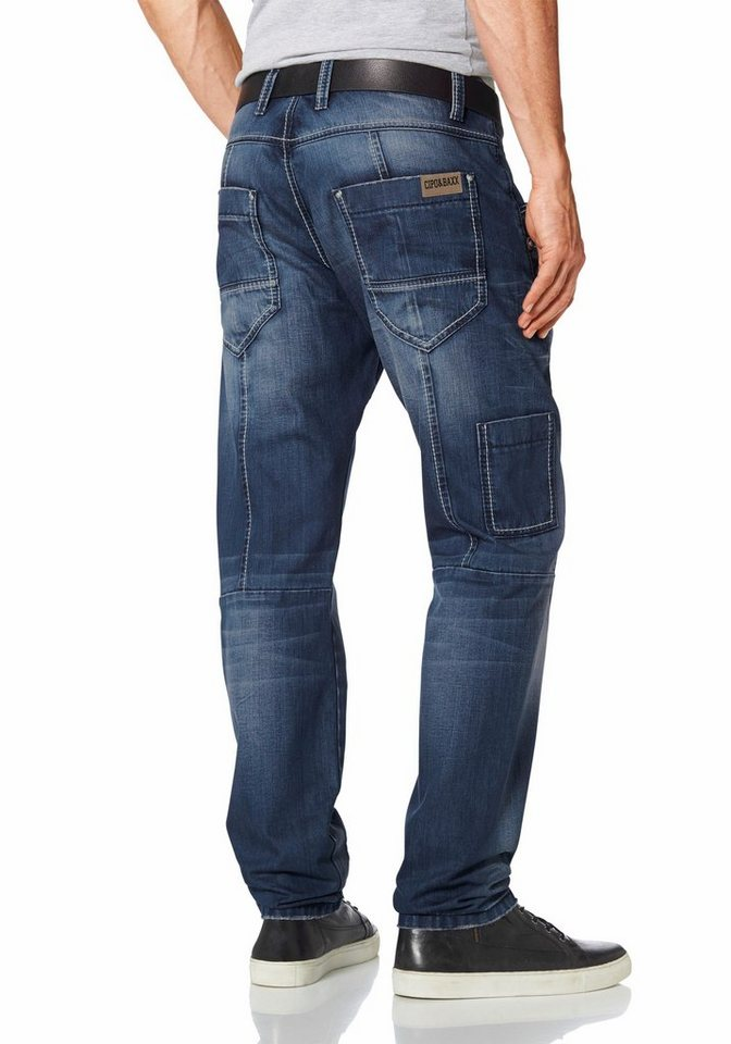 Cipo & Baxx Loose-fit-Jeans in blau