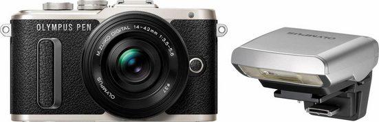 Olympus »E-PL8« Systemkamera (14-42mm EZ Pancake, 16,1 MP, WLAN (Wi-Fi), Makroaufnahme, HDR-Aufnahme, 3D, Gesichtserkennung)