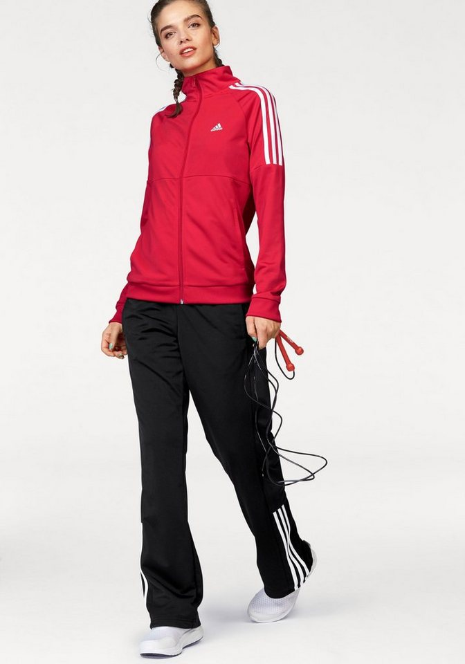 adidas Performance Trainingsanzug »FRIEDA SUIT« in rot-schwarz