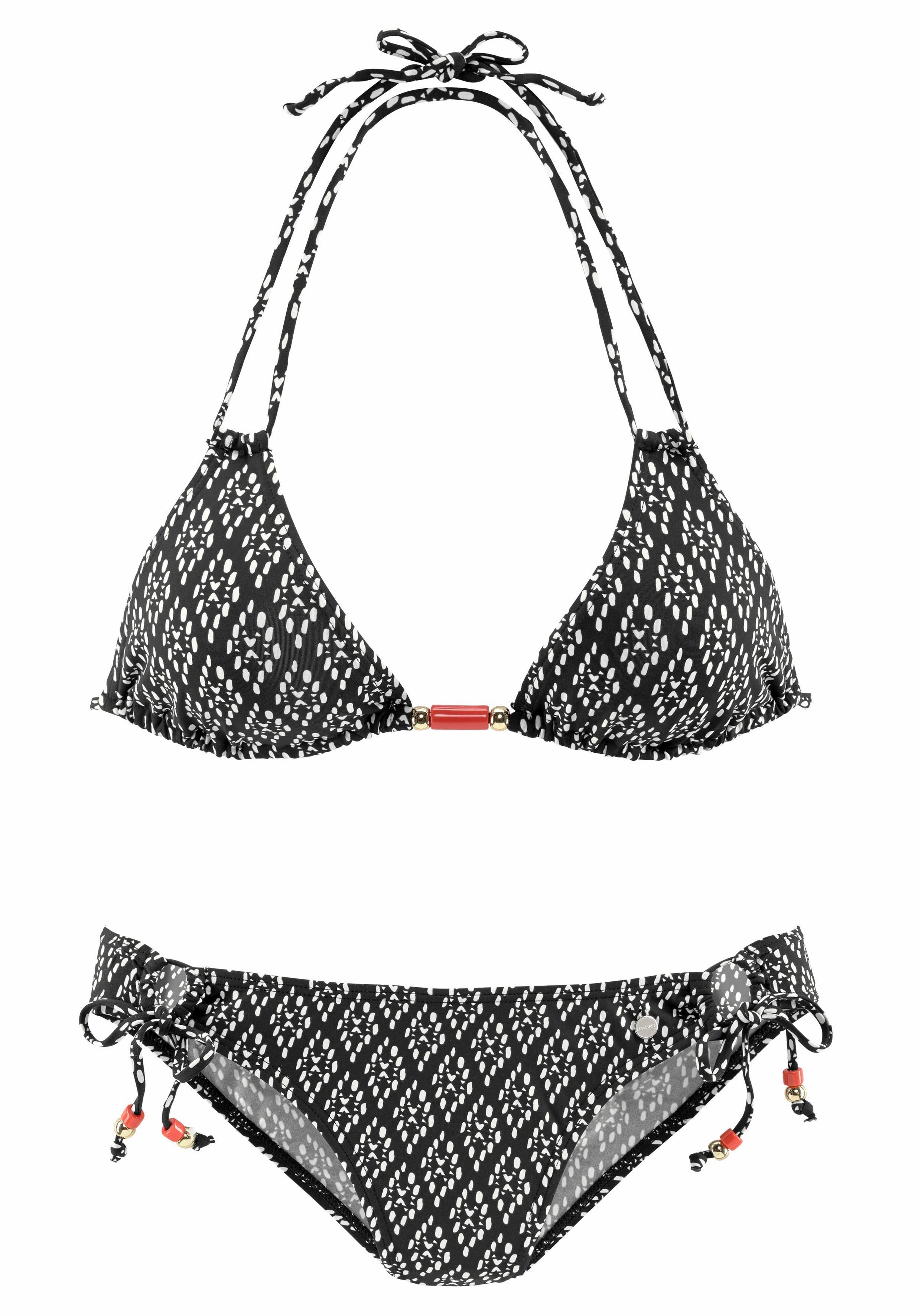 LASCANA Triangel-Bikini mit Zierperlen