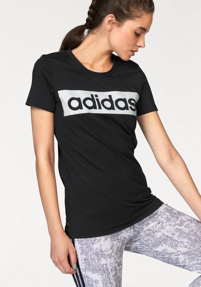 adidas performance t shirt essentials linear tee otto. Black Bedroom Furniture Sets. Home Design Ideas