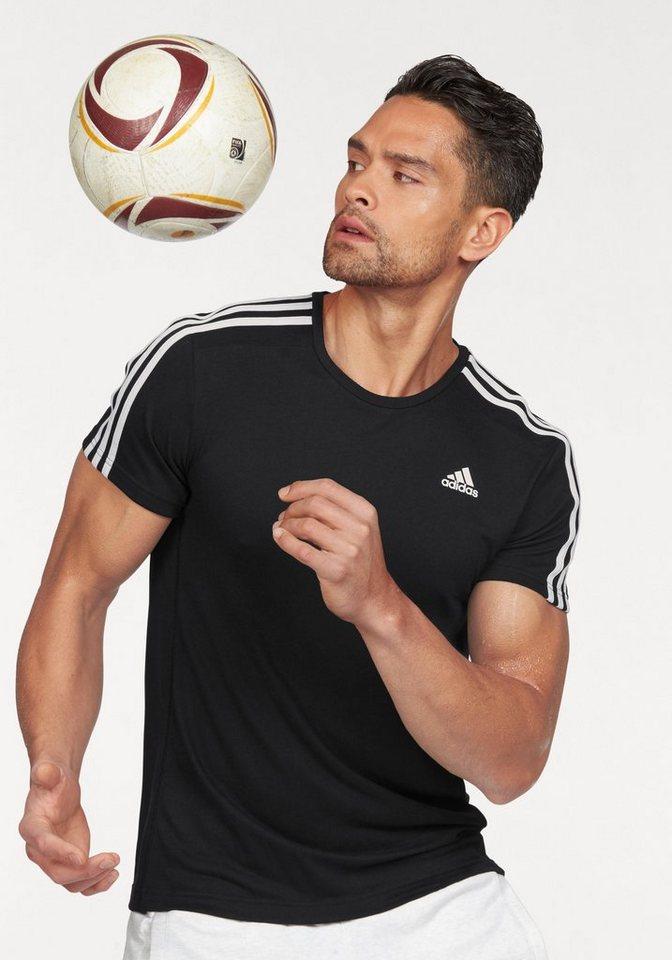 adidas Performance ESSENTIALS 3S TEE Funktions-T-Shirt in Schwarz-Weiß