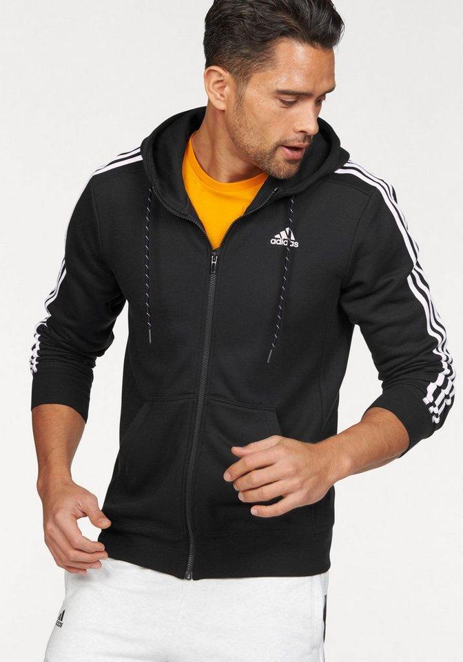 adidas Performance Funktions-Sweatjacke in Schwarz-Weiß