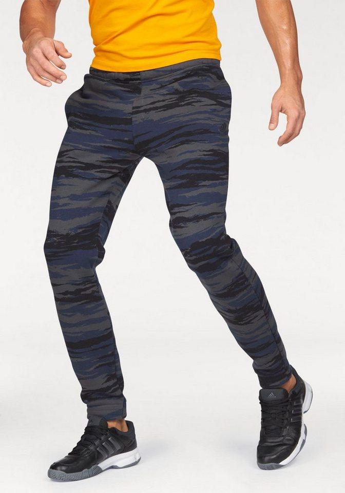 adidas Performance Jogginghose »ESSENTIALS CAMO PANT« in dunkelgrau-blau