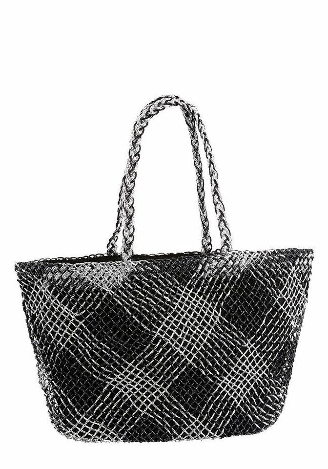 J. Jayz Strandtasche in schwarz-silberfarben