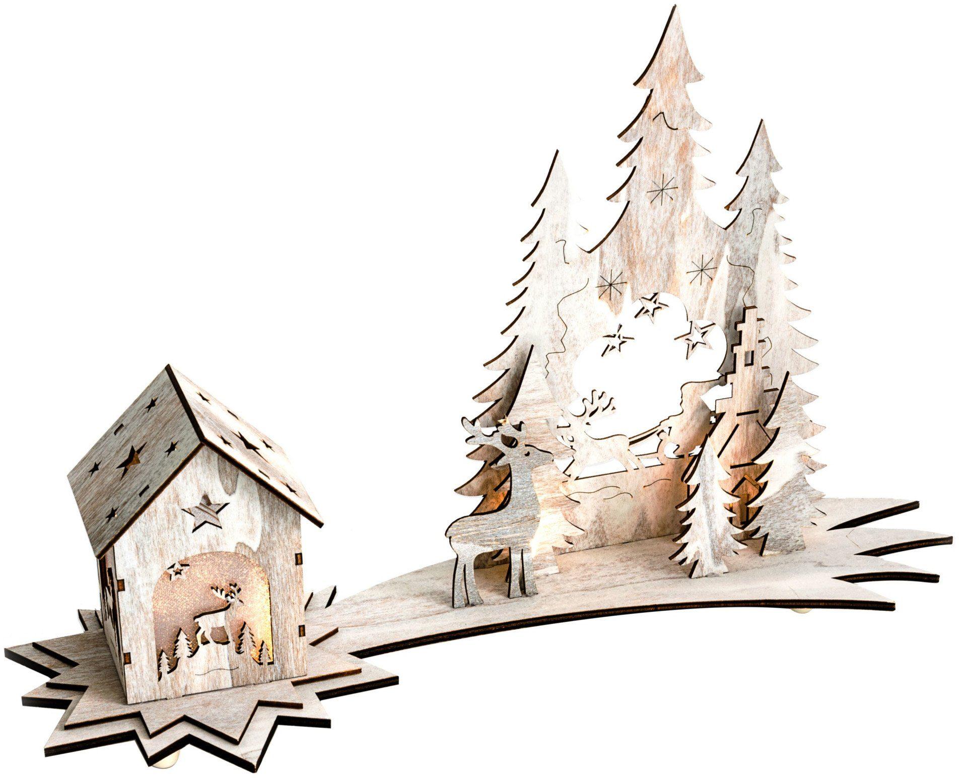 Mailord LED-Winterwunderland, batteriebetrieben, »Shabby Chic«