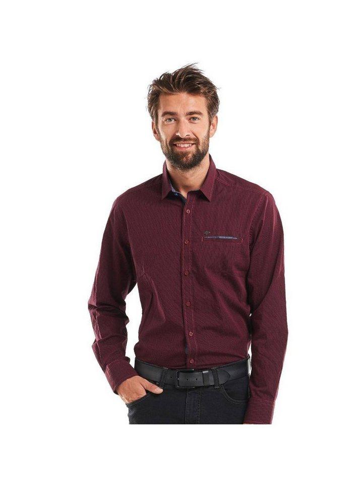engbers Hemd langarm in Weinrot