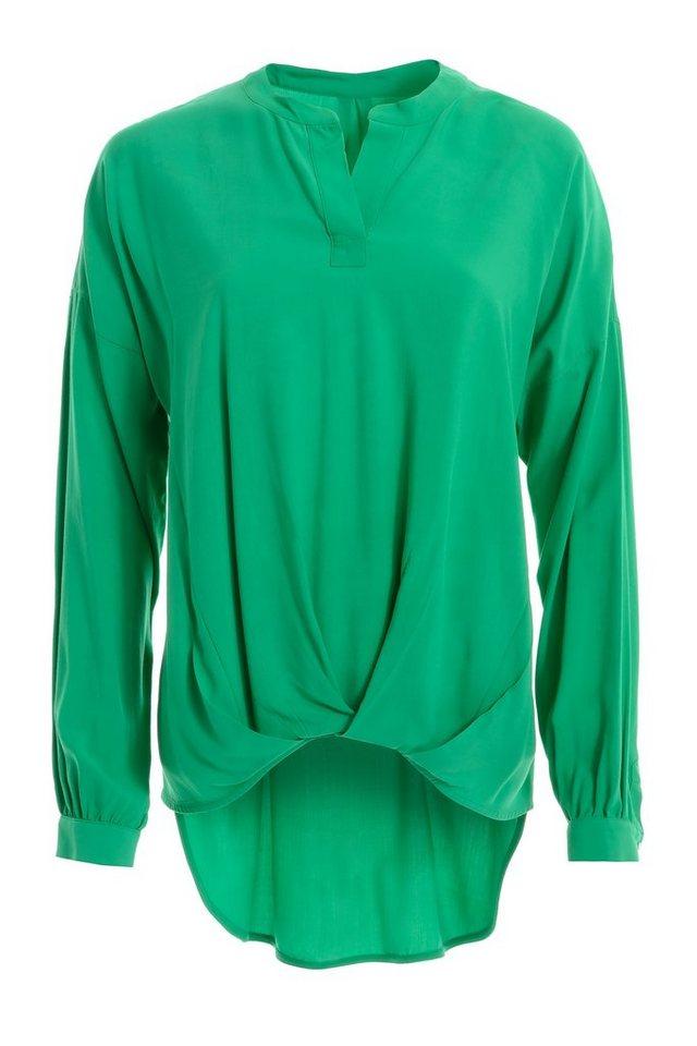 TUZZI Bluse mit Drapierung am Saum in smaragd