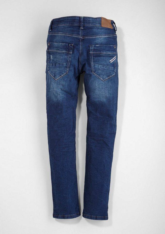 s.Oliver RED LABEL Junior Seattle: Jeans mit Farbakzenten für Jungen in blue denim stretch