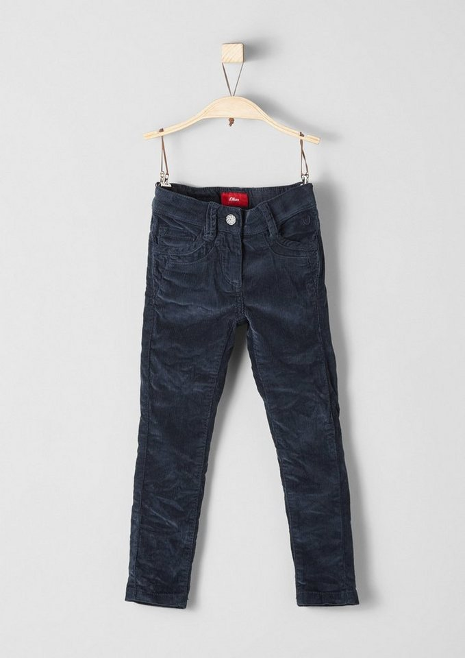 s.Oliver RED LABEL Junior Skinny Kathy: Stretch-Cordhose für Mädchen in dark blue