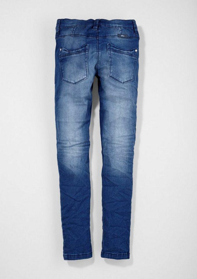 s.Oliver RED LABEL Junior Skinny Suri: Anschmiegsame Jeans für Mädchen in blue denim stretch