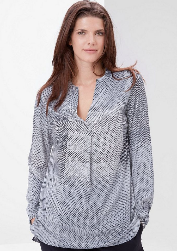 TRIANGLE Longbluse mit Musterprint in blue AOP