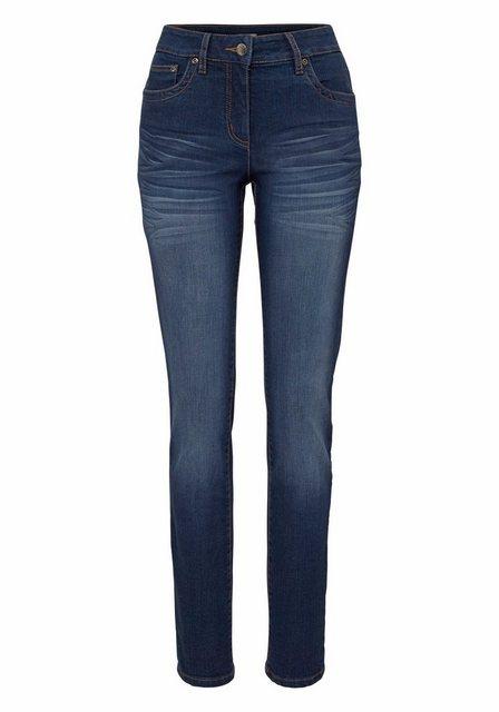 Hosen - Aniston CASUAL Slim fit Jeans »Anja« Regular Waist › blau  - Onlineshop OTTO