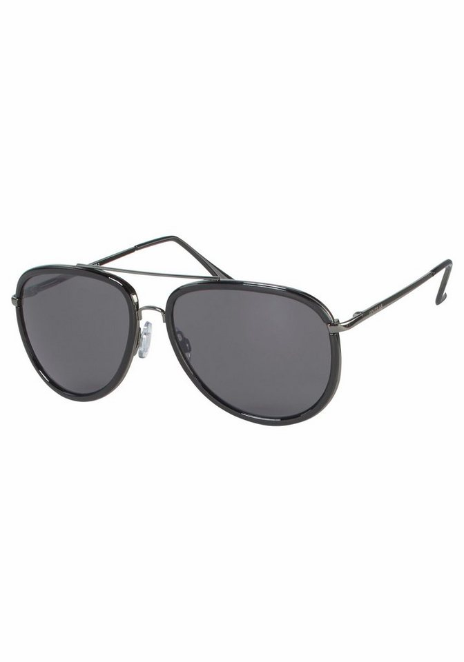 Route 66 Sonnenbrille im Materialmix in anthrazit