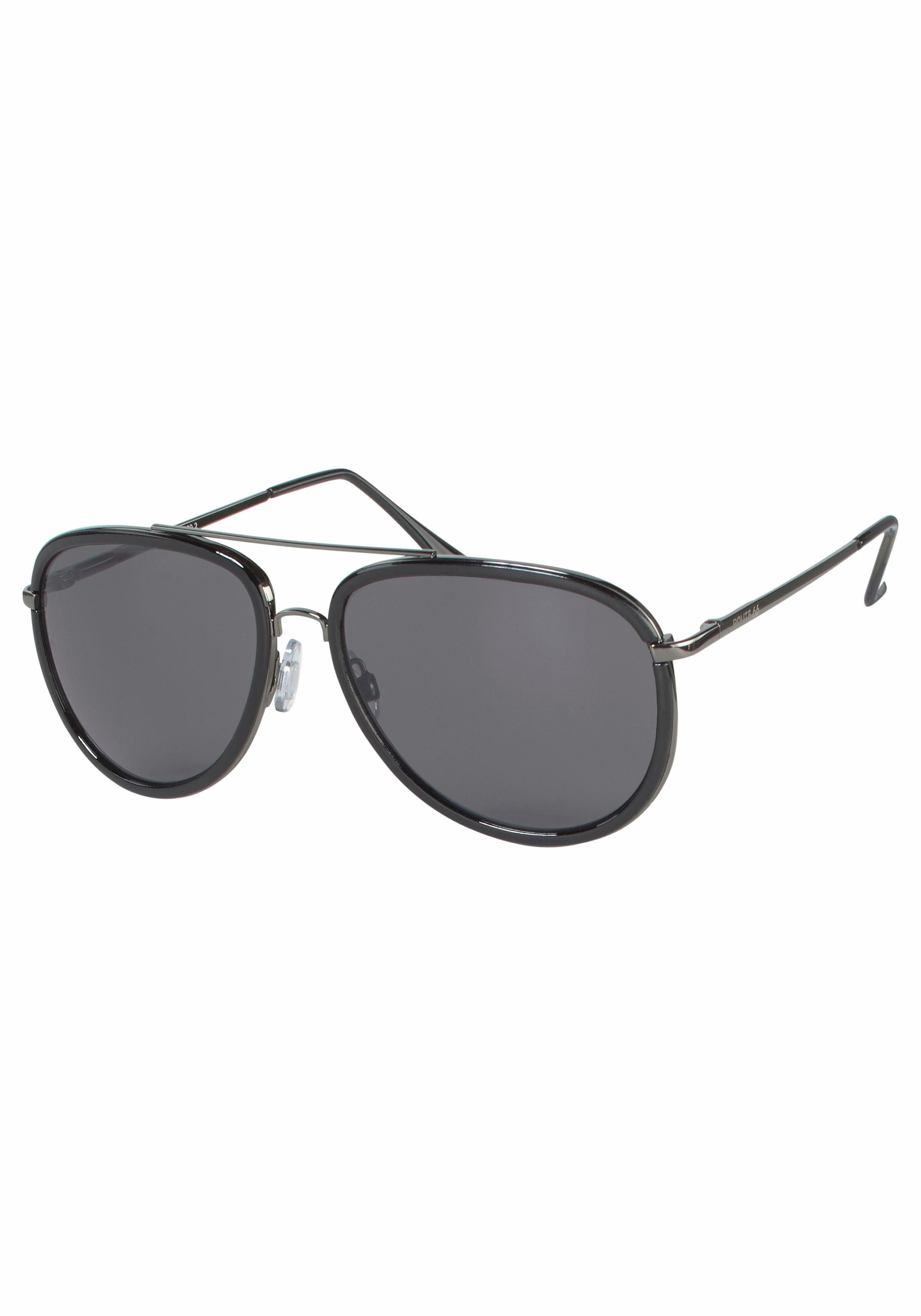 Route 66 Sonnenbrille im Materialmix